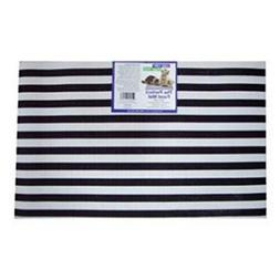 Cats Rule 00398 Perfect Food Mat - Black And White Stripe