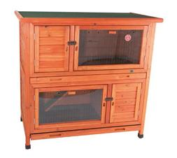 TRIXIE Pet Products 2-in-1 Rabbit Hutch with Insulation, 45.