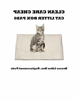 40 Clean Care Cat Litter Box Liner Pads for Breeze Litter Bo