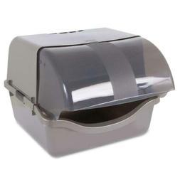 Petmate 22793 Retracting Litter Pan, Brushed Nickel gray
