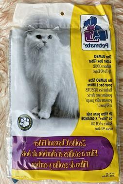x Petmate Jumbo Litter Box Filters Zeolite Charcoal