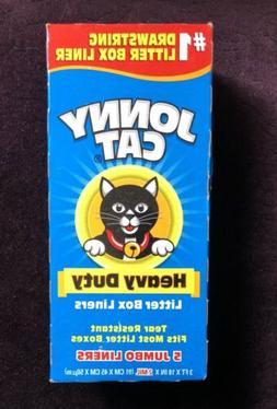Jonny Cat 5 HEAVY DUTY LITTER BOX LINERS JUMBO Tear Resistan