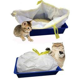 7pcs Adjustable Pet Cat Litter Box Drawstring Thickening Cle