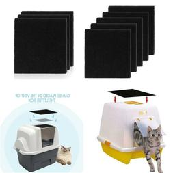 8X Charcoal Cat Litter Box Hooded Cats Litter Boxes Carbon O