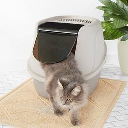 AmazonBasics Hooded Cat Litter Box, Large