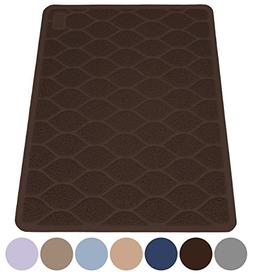 MIGHTY MONKEY Premium Cat Litter Trapping Mats, Phthalate Fr