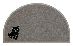 Nature's Cat Litter Mat BPA Free Extra Large Half Moon Desig