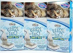 Kitty Cat Alfa Pet Pan Liners, 10 Count, Pack of 3