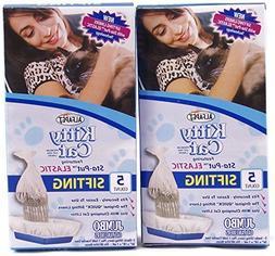 Alfapet Kitty Cat Sta-put Elastic Sifting Litter Box Liners