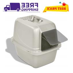 an Ness Large Cat Litter Box Pan Enclosed Hooded Covered Kit