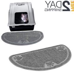 Anti-Tracking Cat Litter Mat Box Semi-Round Shape Trape & Cr
