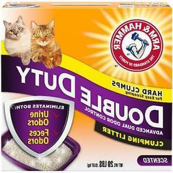 Clumping Cat Litter Double Duty 20 lb ARM HAMMER Fresh Scent