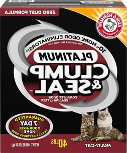 Arm & Hammer Platinum Clump & Seal Cat Litter 40 lb box Free