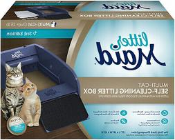 automatic self cleaning litter box cat pet