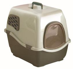 Marchioro Bill 2F Covered Cat Litter Pan with Filter, Medium