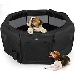 X-ZONE PET Black Playpen Portable Foldable Dog/Cat/Puppy Exe