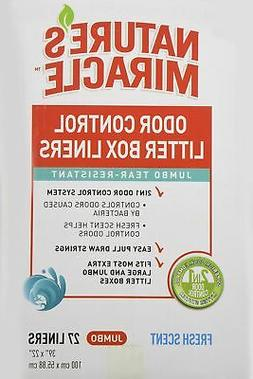 Brand New Nature's Miracle Odor Control Jumbo Litter Box Lin