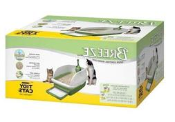 BREEZE Anti-Tracking Pellets Cat Litter Box Starter Kit for