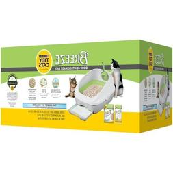 BREEZE Cat Litter Box Starter Kit for Multiple Cats Box