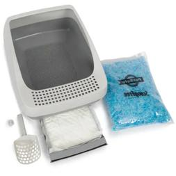 ScoopFree by PetSafe Deluxe Crystal Litter Box System for Ca