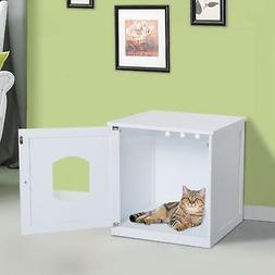 Cat Hidden Litter Box Furniture Bench Enclosure Kitty Condo