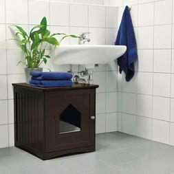 Cat Home and Litter Box Ventilation Easy Cleaning Varnished