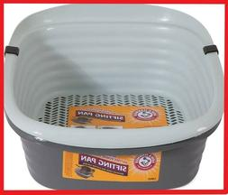 Cat Kitty Litter Pan System Large Self Sifting Box Clean Slo