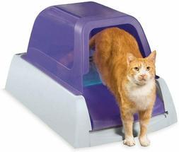 Cat Liter Box Self Cleaning Hooded Cat Litter Box w/ Disposa
