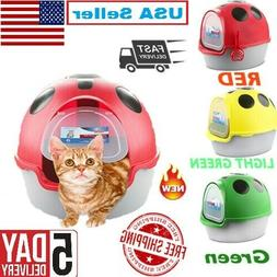 Cat Litter Box Enclosed Sifting Pan Hooded Extra Large Kitty