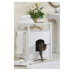 Cat Litter Box Extra Large Jumbo Furniture Enclosure With Hi