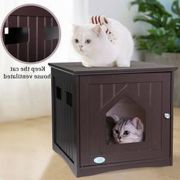 Litter Box Furniture Indoor Pet Crate Cat Washroom Litter Box Enclosure Sweet Barks Nightstand Pet House