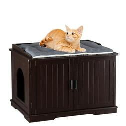 Cat Litter Box House Hidden Cabinet Extra Large Enclosure Fu
