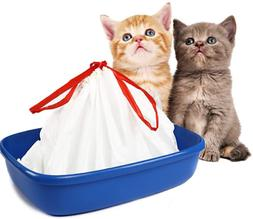 Cat Litter Box Liners large with Drawstrings Scratch Resista