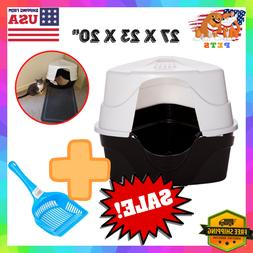 Cat Litter Box Pan Jumbo XL Large Enclosed Hooded Covered Ki