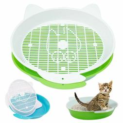 Cat Litter Box Pee Toilet Round Enclosed Kitten Bedpans For