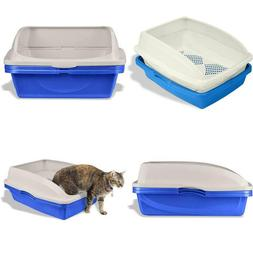 Cat Litter Box Sifting Pan Set W/ Frame Clean Kitty Odor Sta