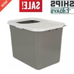 Cat Litter Box Top Entry Large Box Covered For Cats Lid Door