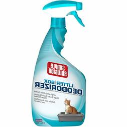 Simple Solution Cat Litter Box Deodorizer Spray Bottle, 32 o