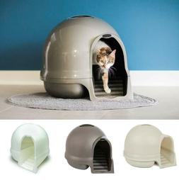 Cat Litter Dome with Clean-Paw Steps & Odor Eliminating Filt