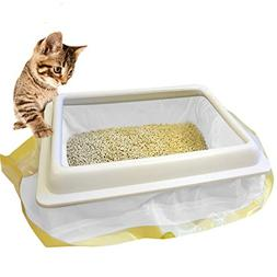 Cat Litter Box Liners with Drawstring Bag Heavy Duty Jumbo-S