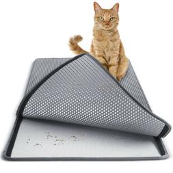 Cat litter Mat - Double Layer Pad - Large Flexible Trapping