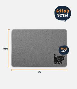 "Cat Litter Mat ~Smiling Paws Pets, BPA Free, XL Size 35""x23."