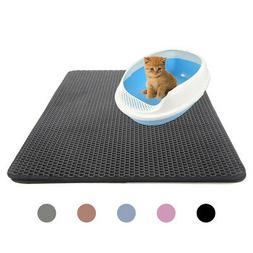 Cat litter Mat Double Layer Mat Pad Rug - Large Flexible Tra