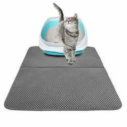 Pet Cat litter Mat Double Layer Pad Large Flexible Trapping