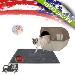 Cat Litter Mat Foldable Rubber Trapper Flexible  Catcher Wat