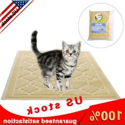 "Cat litter Mat - Large Flexible Trapping for Box Pan,35""x 23"