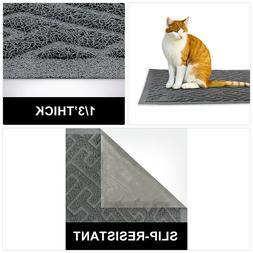 EHZNZIE Cat Litter Mat Non-Slip XL  Traps Litter from Box an