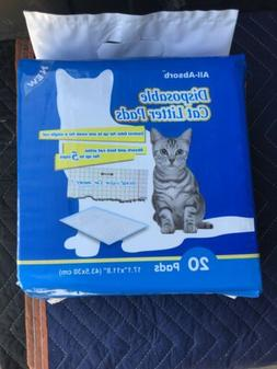 All-Absorb 20 Count Cat Litter Pads, 17.1 by 11.8-Inch