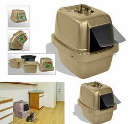 Cat Litter Pan Enclosed Large Pan anti-Odor  Box Jumbo With