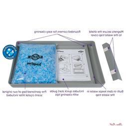 Cat Litter Tray Box Sifting Pet Scoopfree Crystal Odor Reusa